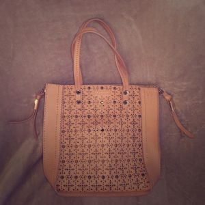 Steve Madden- Blush Pink Laser Cut Perforated Tote